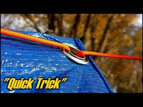 How To Setup A Tarp Using No Knots -