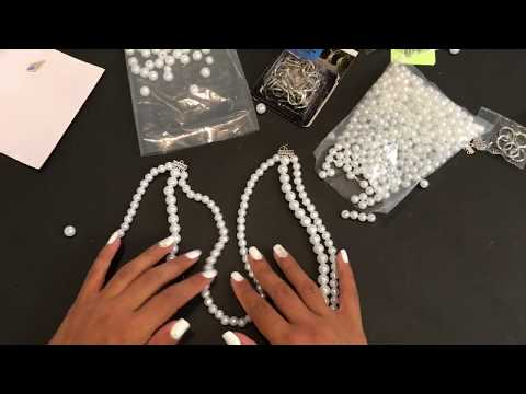 How To: Make Pearl Curtain Tiebacks