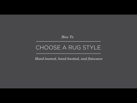 How to choose a rug style
