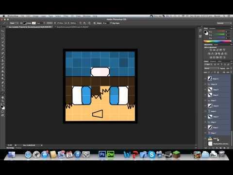 How To Make Your Minecraft Head Cartoony (Photoshop)