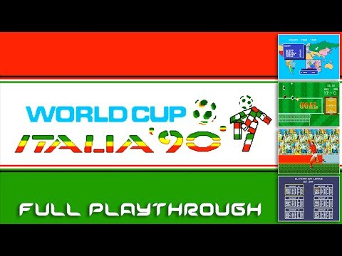 World Cup Italia 90 - Mega Drive / Genesis (Playthrough @ 60fps)