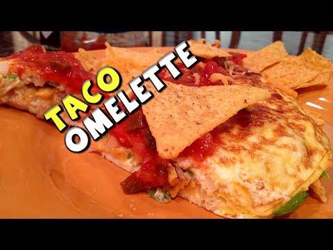 Healthy TACO Omelette Recipe (Bodybuilding/Protein)