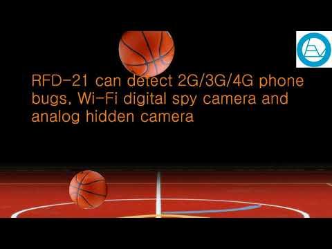 Handheld Radio Frequency Detector helps to locate hidden spy bugs