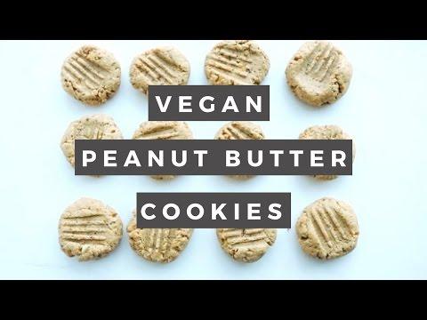 Healthy Peanut Butter Cookies (Vegan)