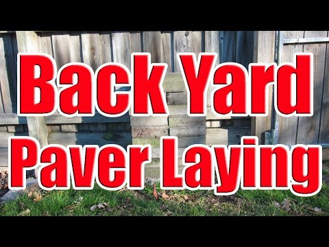 How to Lay Pavers on Dirt (How to Install Brick Pavers on Grass with DaznDi Properties)