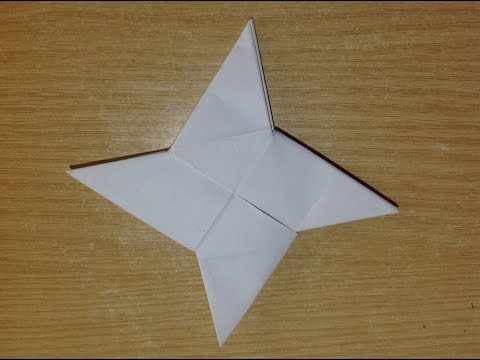 How To Make a Paper Ninja Star (Shuriken) - Origami DIY