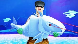 Catching the Robot Fish! - Crazy Fishing Gameplay - VR HTC Vive