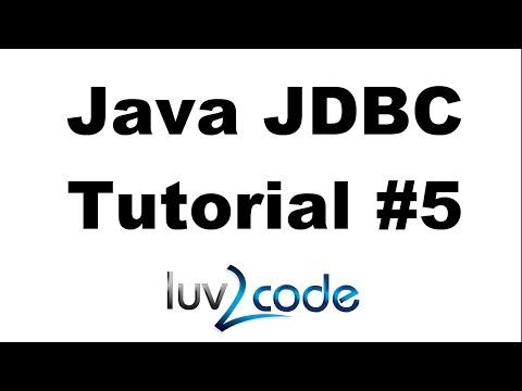 Java JDBC Tutorial - Part 5: Prepared Statements