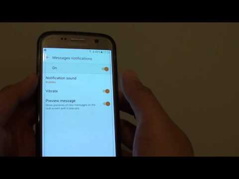 Samsung Galaxy S7: How to Enable / Disable Vibration for Messages Notification