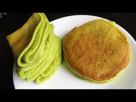 Matcha Thin Pancakes - Matcha Roll Pancakes
