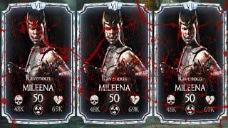 3 RAVENOUS MILEENAS TEAM. BLOOD BATH... OR NOT??? Mortal Kombat X Mobile