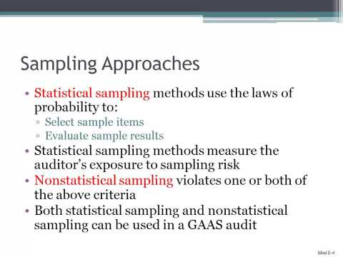 Sampling Approaches in Auditing