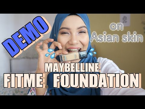 MAYBELLINE FIT ME FOUNDATION DEMO ON ASIAN SKIN | DRUGSTORE FOUNDATION