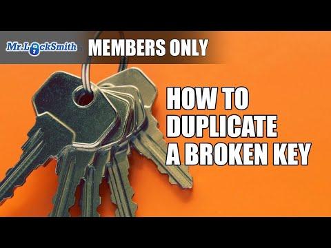 How to Duplicate a Broken Key | Mr. Locksmith Video