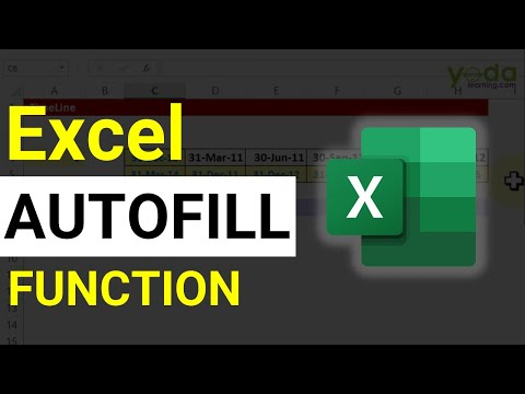 Excel AutoFill - Months, Dates and Numbers without typing