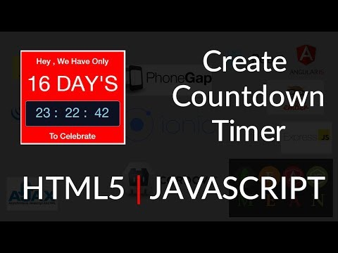 Create a Countdown Timer Easily | HTML | JavaScript