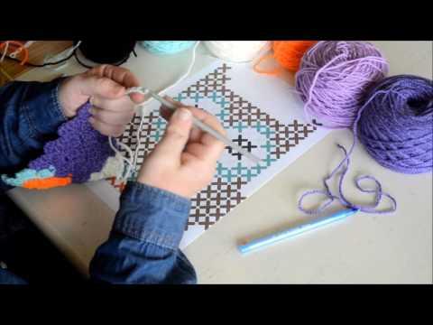 Part 2 -  Graphgan in C2C - Crochet - Tutorial - English