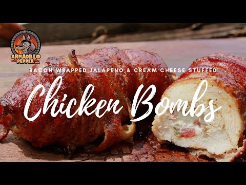 Chicken Bomb Recipe | Bacon-Wrapped Jalapeno & Cheese Stuffed Chicken on Weber Kettle