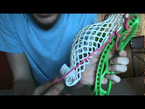 How To String a Lacrosse Head (part 2 sidewall)