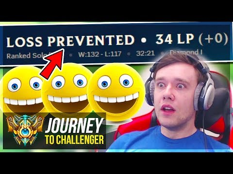 WAIT.. WHY AM I NOT LOSING LP??????????? - Journey To Challenger | League of Legends