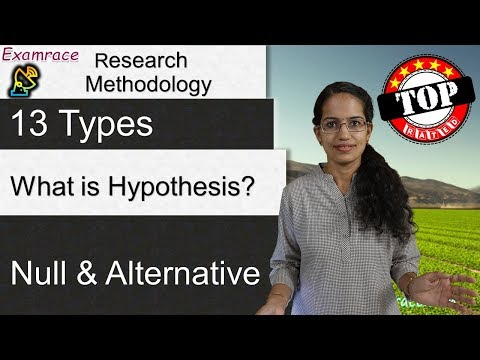 What is Hypothesis? (Part 1 of 2) 13 Types of Hypothesis (Null & Alternative) - Research Methodology