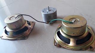 Free Energy Generator in two Speaker Magnet