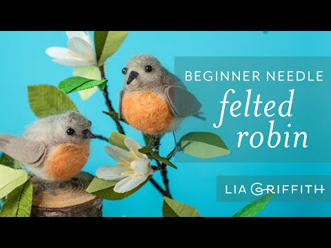 Needle Felting for Beginners - How To Make A Felted Bird
