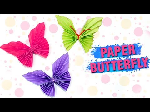 How To Make A Paper Butterfly | Easy DIY Paper Butterfly Making | Wall Decor Craft Ideas | Easy DIY