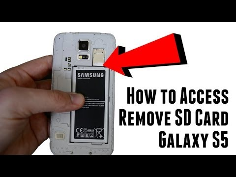 How to access and remove Galaxy S5 SD memory card