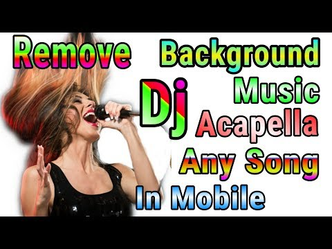 How to remove song background music | Create acapella in Android mobile phone