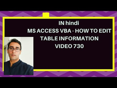 How to Edit few top records in Access - MS ACCESS VBA HINDI