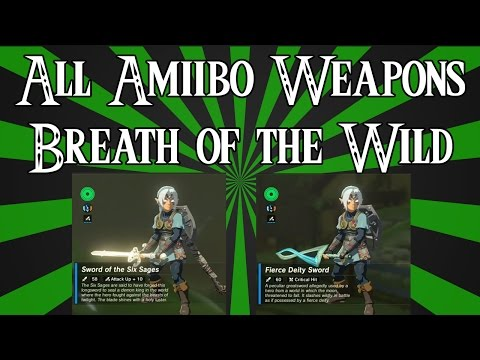 Showcasing Every Amiibo Weapon in Zelda: Breath of the Wild