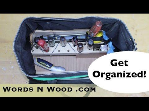 My Simple DIY Toolbag Organizer: Show'n'Tell time! (WnW #77)