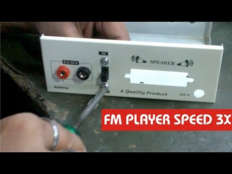 How to Make FM Player DIY | Speed x3 | hindi electronics Electro India
