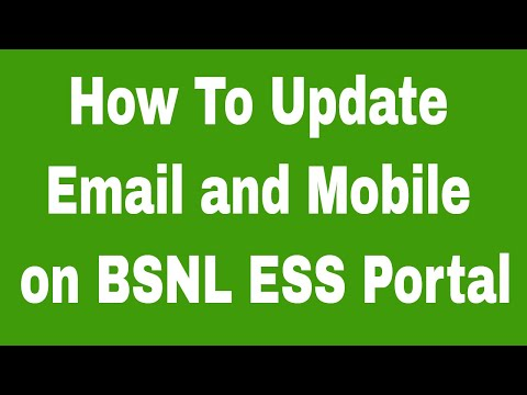 How To Update Email and Mobile on BSNL ESS Portal