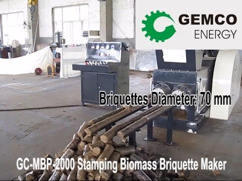 Briquette Machine for Straw, Sawdust, Wood Chips and Other Biomass
