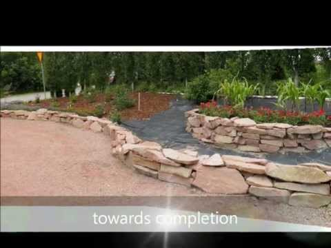 building and finishing a rock wall and other rock garden projects