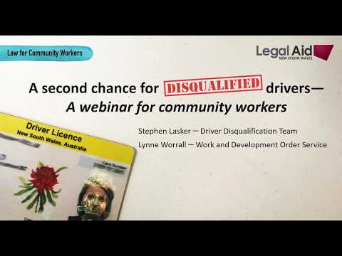 New Laws - A second chance for disqualified drivers in NSW