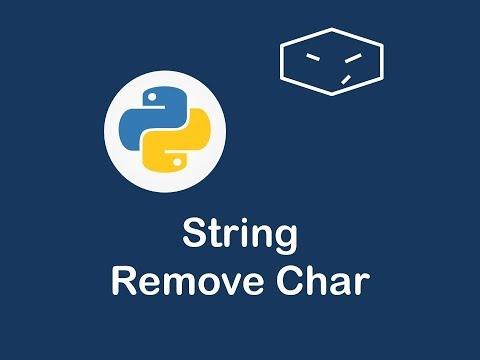 string remove char in python