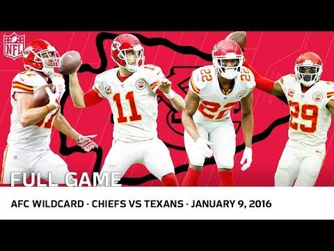 2015 AFC Wild Card Playoffs: Chiefs vs. Texans   NFL Full Game