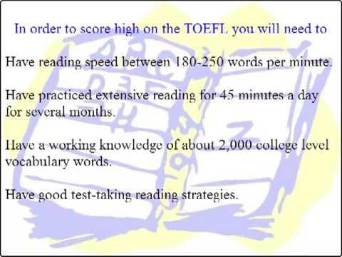 TOEFL iBT Reading: Test-Taking Strategies