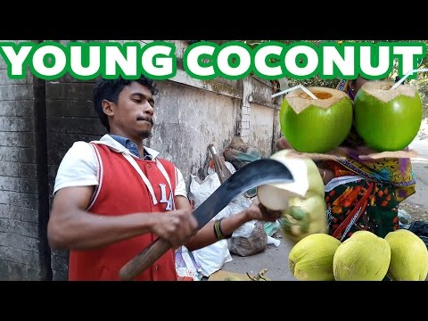 Young Coconut || Green Coconut || Cutting Skills || Dhaka || Bangladesh