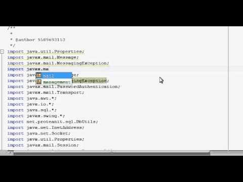 Java prog#87.JavaMail : transfer email using gmail SMTP :Download JavaMail API:Part1