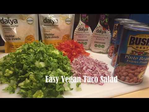 How to make Easy Vegan Taco Salads