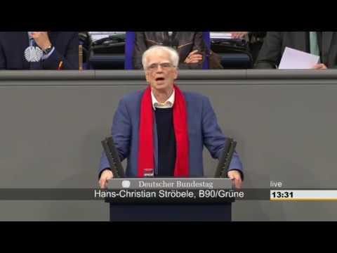 Hans-Christian Ströbele zum US-Drohnenkrieg über Ramstein