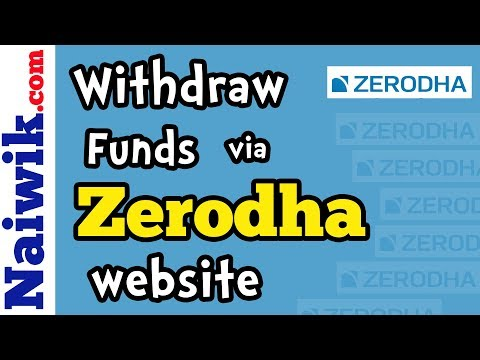 Withdraw funds from Zerodha