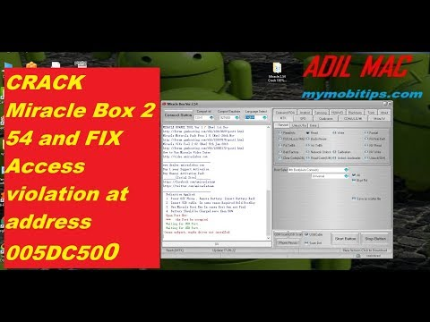 CRACK Miracle Box 2.54 and FIX Access violation at address 005DC500 ERROR
