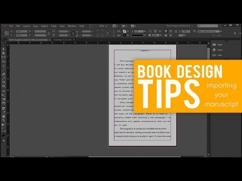 Importing your Manuscript from WORD into INDESIGN // BOOK DESIGN