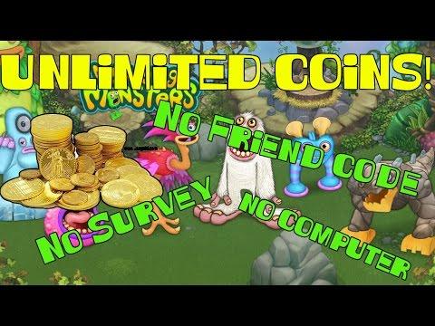 MySingingMonsters UNLIMITED COINS!! NO SURVEY!, NO FRIEND CODE!, NO COMPUTER!