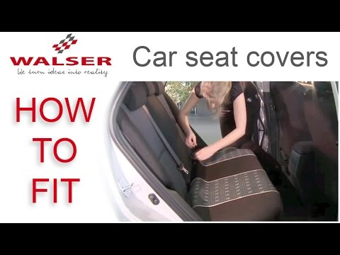 How to fit Walser Car Seat Covers